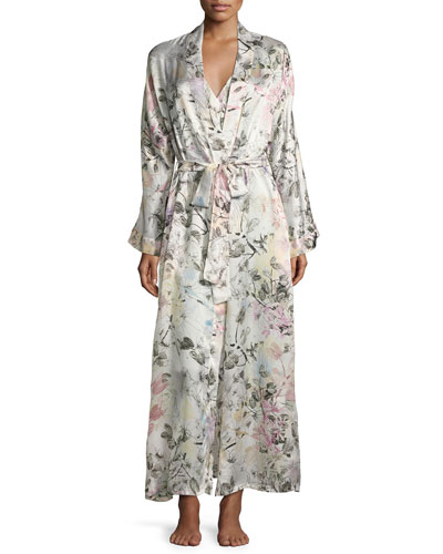 Juliet Printed Long Wrap Robe