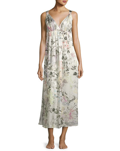 Juliet Silk Long Nightgown