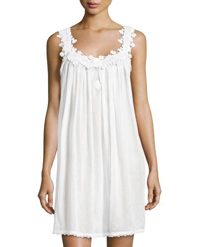Margitta Babydoll Nightgown, White