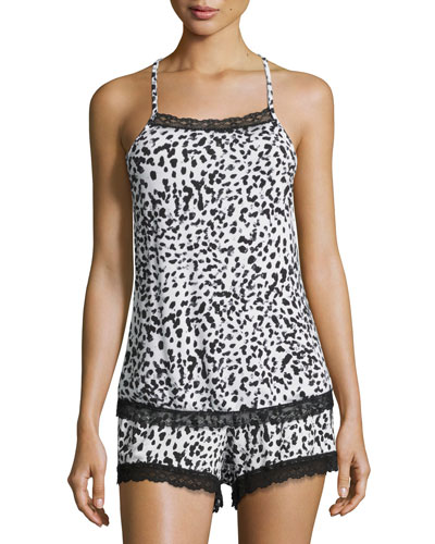 Majestic Print Lounge Camisole, Leopard