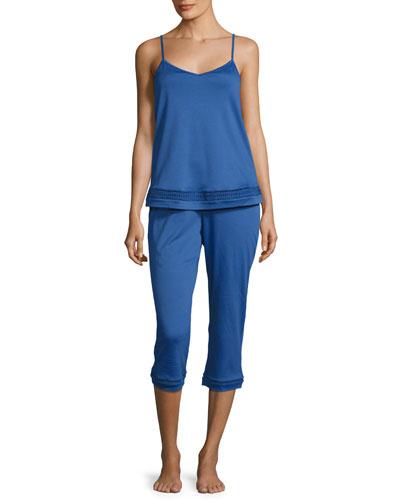 Stella Crop Pajama Set, Royal
