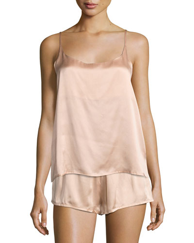 Modern Silk-Satin Camisole, Light Pink