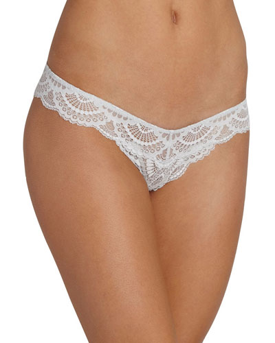 Simona Lace Thong, Gray