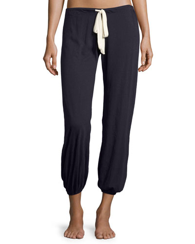 Slouchy Drawstring Pants, Deep Sea
