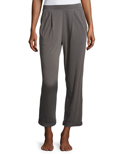 Pajama Cropped Pants, Dark Gray
