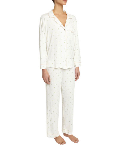 Giving Tree Long Pajama Set, White Pattern