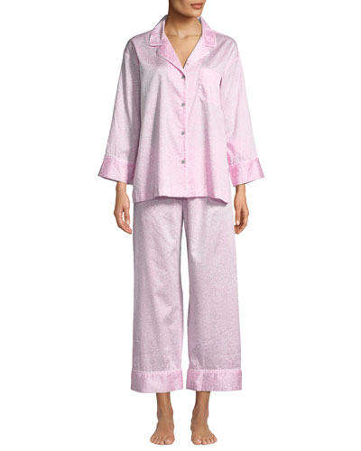afc9d0cc77 Quick Look. Natori · Leopard-Print Cotton Two-Piece Pajama Set. Available  in Pink Patterned