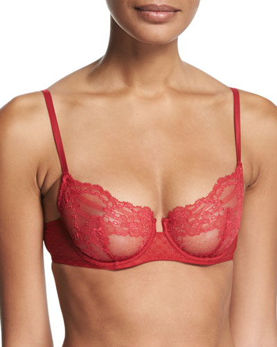 Tuberose Underwire Demi Bra, Red