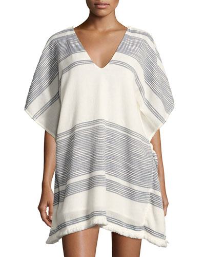 Rosa Caftan Coverup Top, Multipattern
