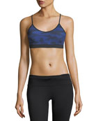Kenmore Camo Mesh-Back Performance Sports Bra