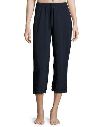 Cotton Lounge Jersey Pants, Dark Blue