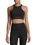 Knit Down Studio Sports Bralette, Jet