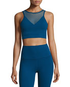 Ombre Mesh Performance Bralette, Blue
