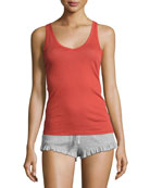 Pima Cotton Lounge Tank, Red