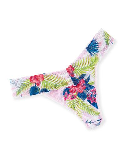 Aloha Original-Rise Lace Thong, Pink Pattern