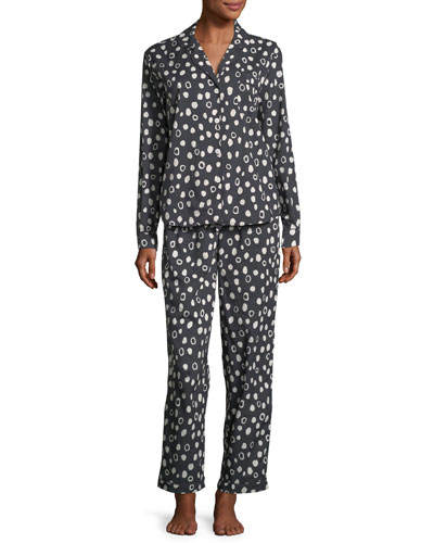 Dot-Print Classic Pajama Set
