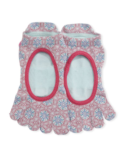Ballerina Prism Grip Full Toe Athletic Socks, Multi Pattern