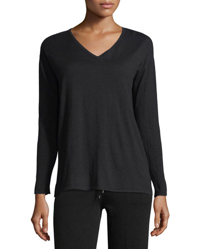 Cashmere Long-Sleeve Lounge Top
