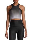 Fade To Black Studio Bralette Sports Top, Black Pattern