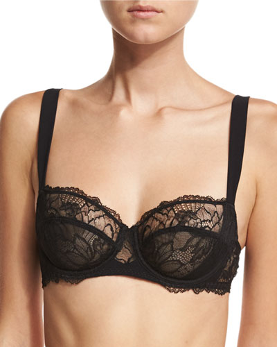 Dentelle Design Lace Demi Bra