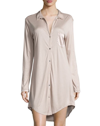 Grand Central Boyfriend Sleepshirt, Dark Gray