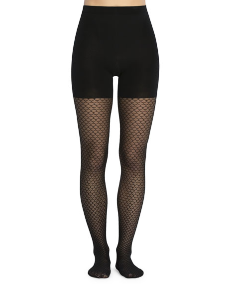 Spanx Tight-End Honeycomb Fishnet Tights