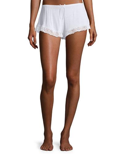 I Do Lace-Trim Lounge Shorts