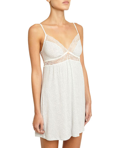 Mink Puff Lace-Inset Chemise