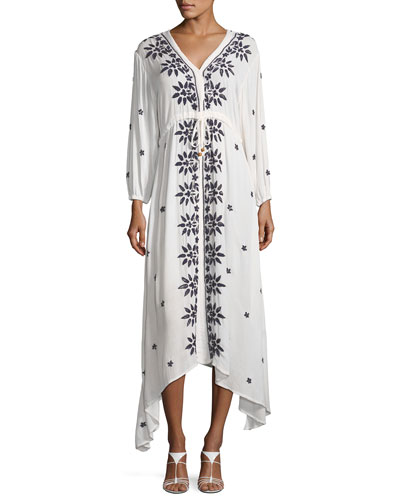 Juliet Embroidered Caftan Maxi Dress