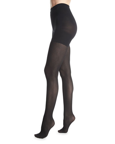 Diamond Dot Control-Top Tights