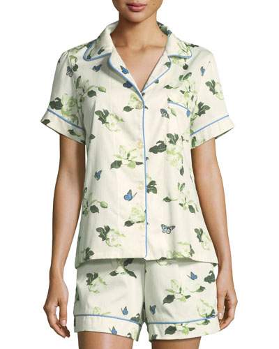 Magnolias Shorty Pajama Set