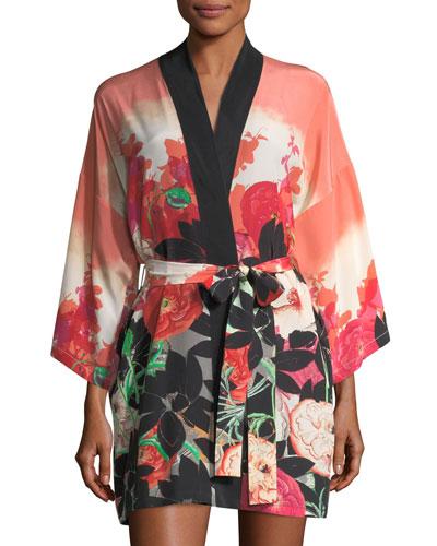 Gypsy Rose Short Silk Robe