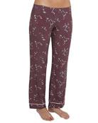 Daisy Jersey-Knit Pajama Pants