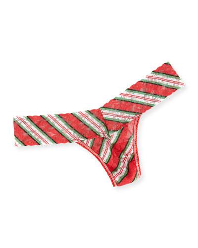 It's a Wrap Low-Rise Striped Lace Thong