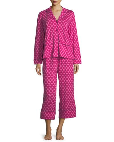 apples cropped pajama set