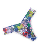 Island Flower Original-Rise Print Lace Thong