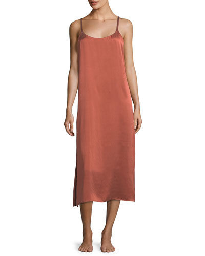 Ochre Rose Sleeveless Long Gown