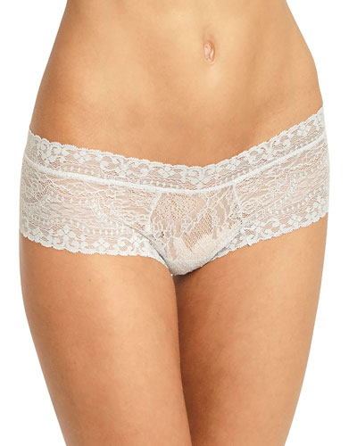 Elvia Lace-Trim Boy-Leg Thong