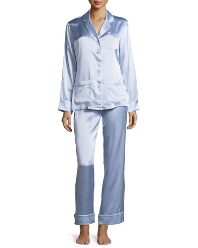 Coco Sky Long Silk Pajama Set