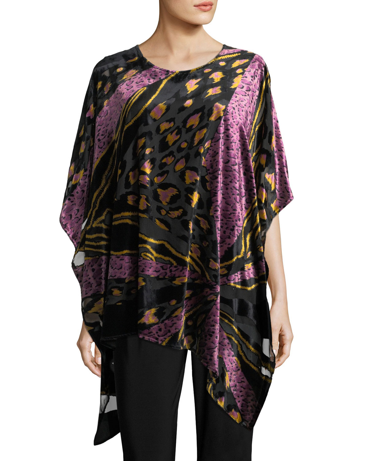 Party Animal Devore Velvet Caftan, Petite