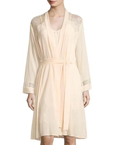 Raffment Precieu Lace-Inset Robe