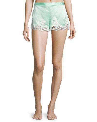 Splendeur Silk-Blend PJ Shorts