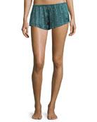 Jade Star Silk Lounge Shorts