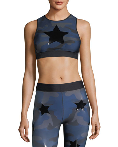 Level Camo-Print Knockout Crop Top