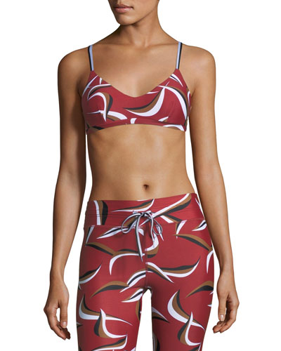Wild Things Zoe Printed Performance Crop Top