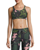 Crystal Camo Lottie Performance Crop Top