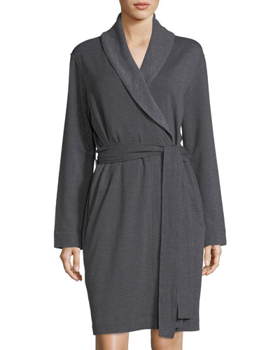 Brushed-Knit Short Robe