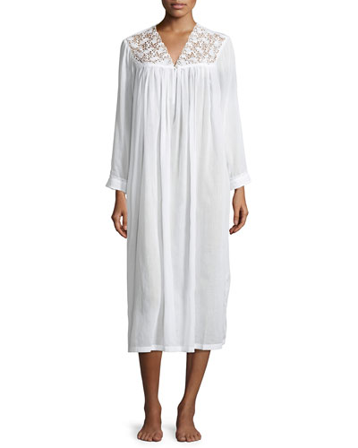 Anastasia Long-Sleeve Long Nightgown