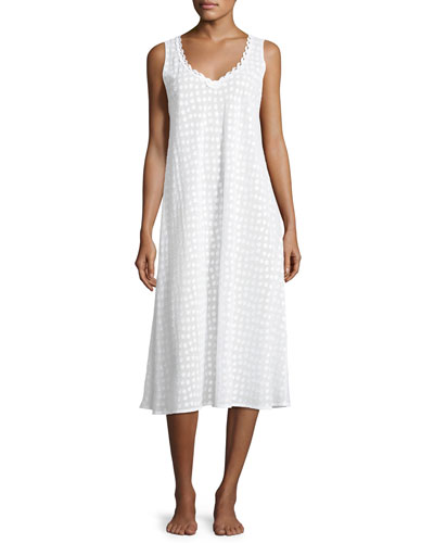 Linda Dot-Print Nightgown