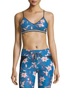 Floral Fairy Tale Compression Andie Crop Top